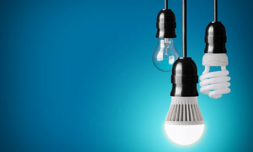 27542632 - hanging tungsten light bulb, energy saving and led bulb